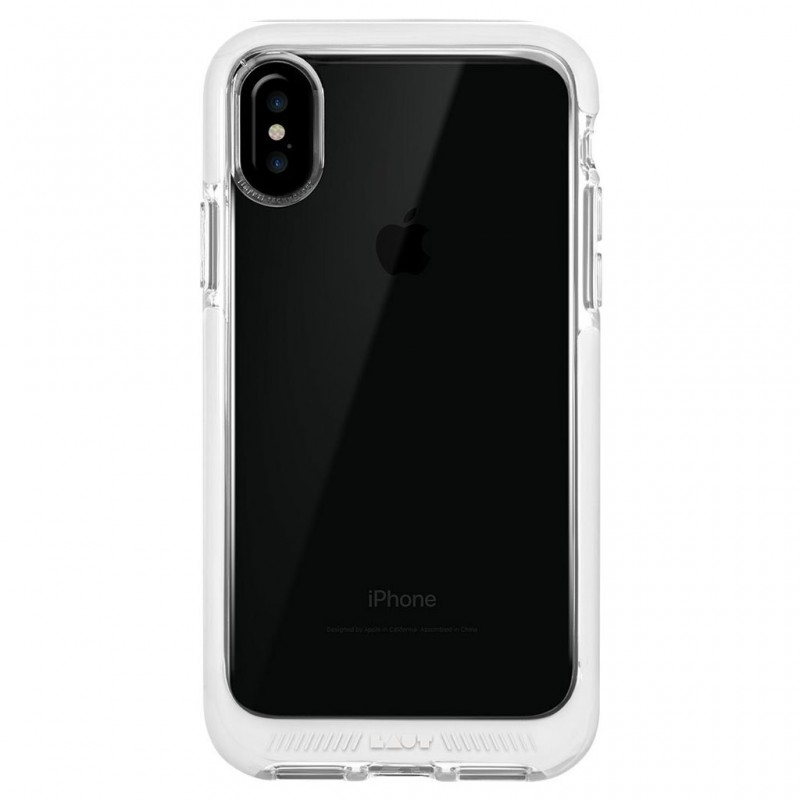 LAUT Fluro IMPKT Case iPhone X/Xs White/Clear - 3