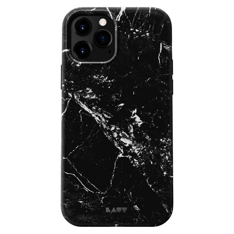 LAUT Huex Elements iPhone 12 Mini Hoesje Zwart Marmer - 1