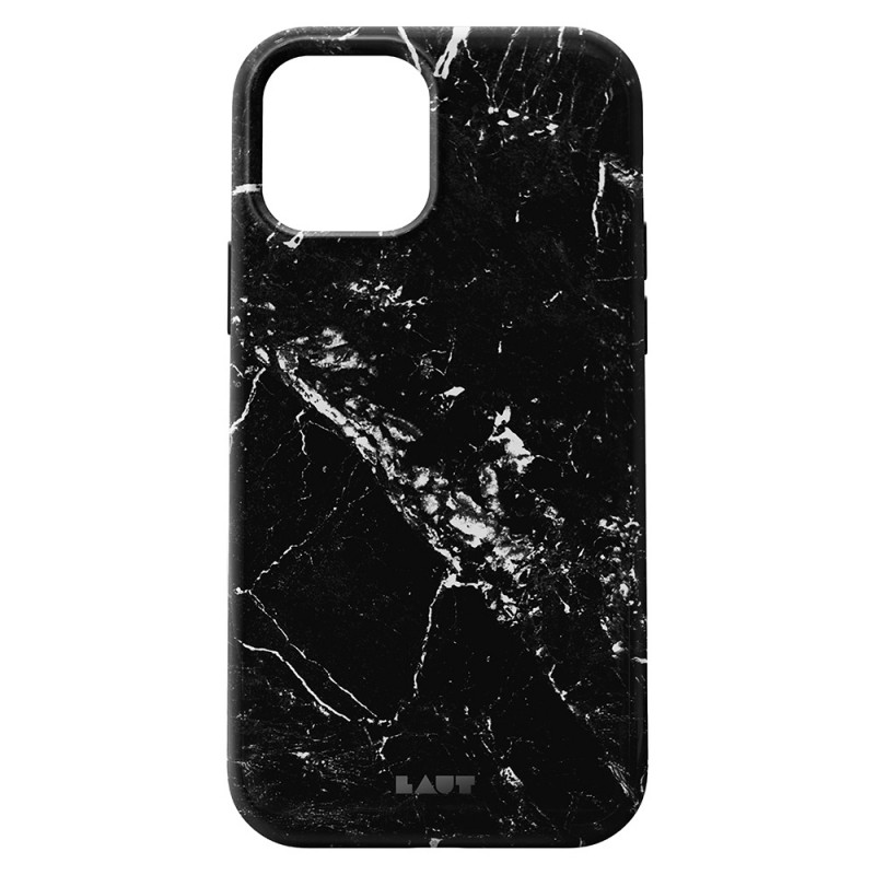 LAUT Huex Elements iPhone 12 Mini Hoesje Zwart Marmer - 2