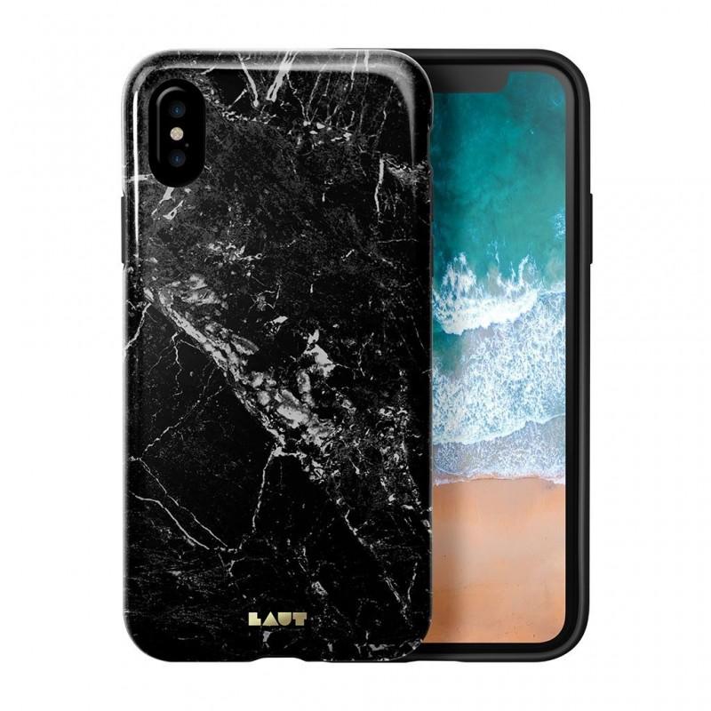LAUT Huex Metallics iPhone X/Xs Black Marble - 1