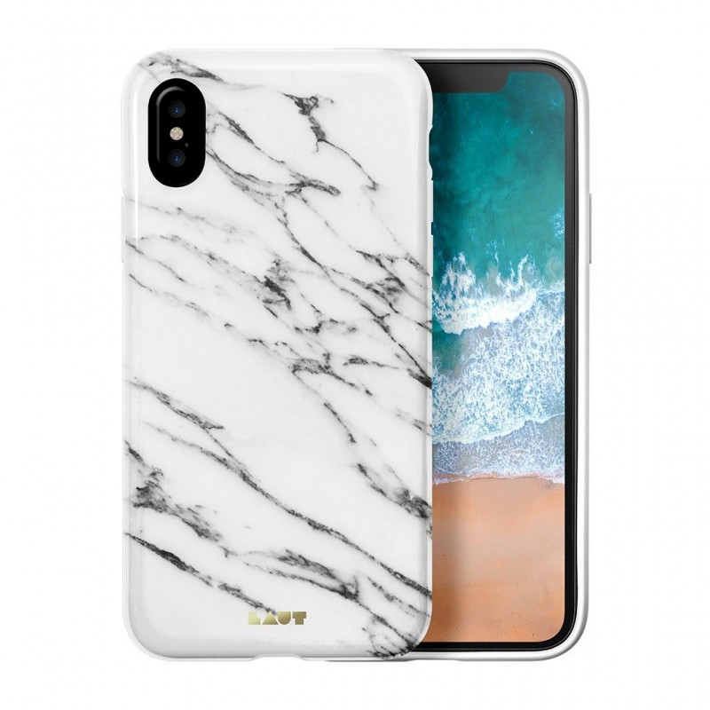 LAUT Huex Metallics iPhone X/Xs White Marble - 1