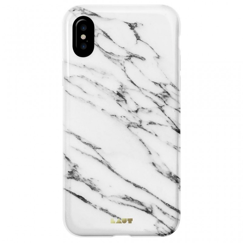 LAUT Huex Metallics iPhone X/Xs White Marble - 2