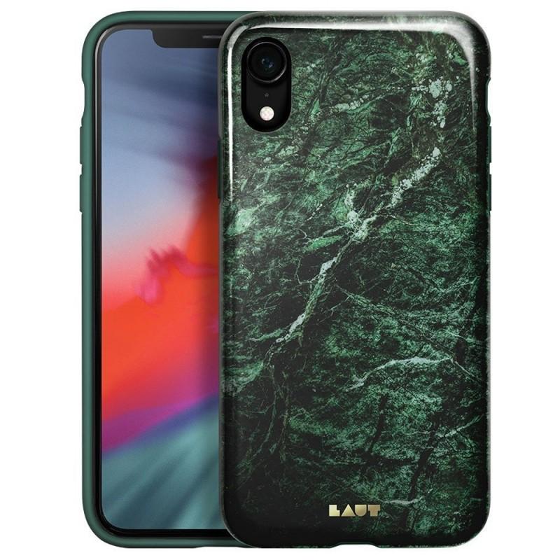 LAUT Huex Elements iPhone XR Hoesje Groen Marmer 01