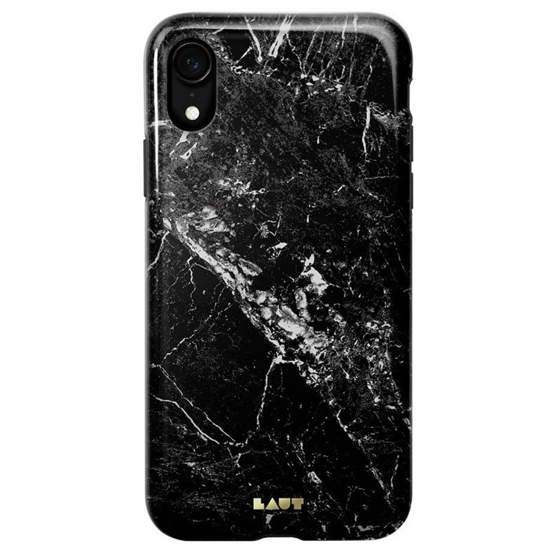 LAUT Huex Elements iPhone XR Hoesje Zwart Marmer 03