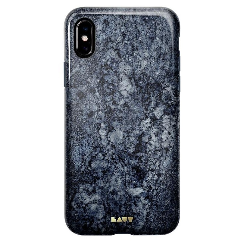LAUT Huex-E iPhone XS Max Hoes Blauw Marmer 03