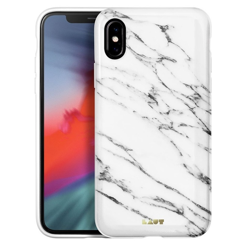 LAUT Huex-E iPhone XS Max Hoes Wit Marmer 01