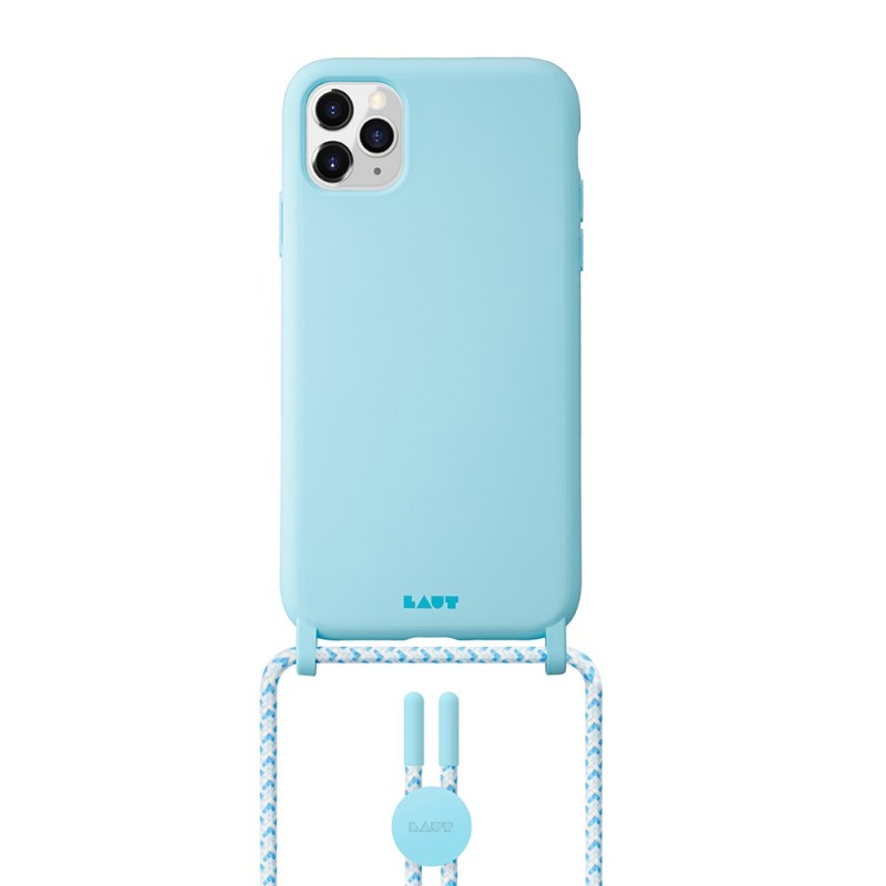 LAUT Pastels Necklace iPhone 12 Mini Blauw - 1