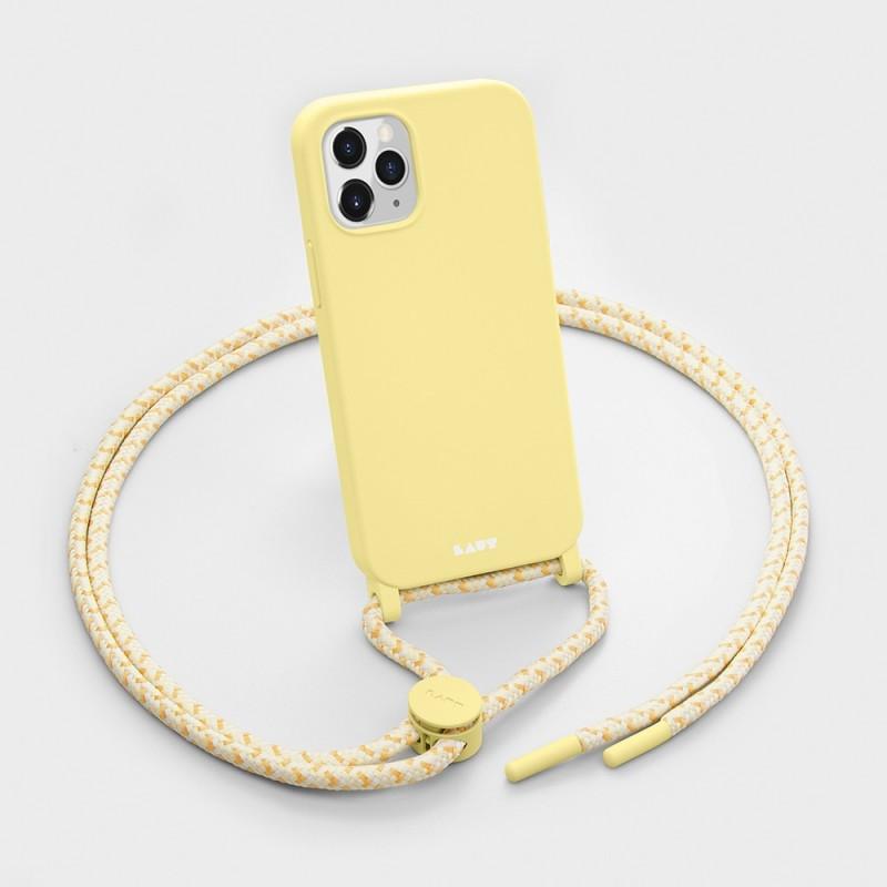 LAUT Pastels Necklace iPhone 12 Mini Geel - 3