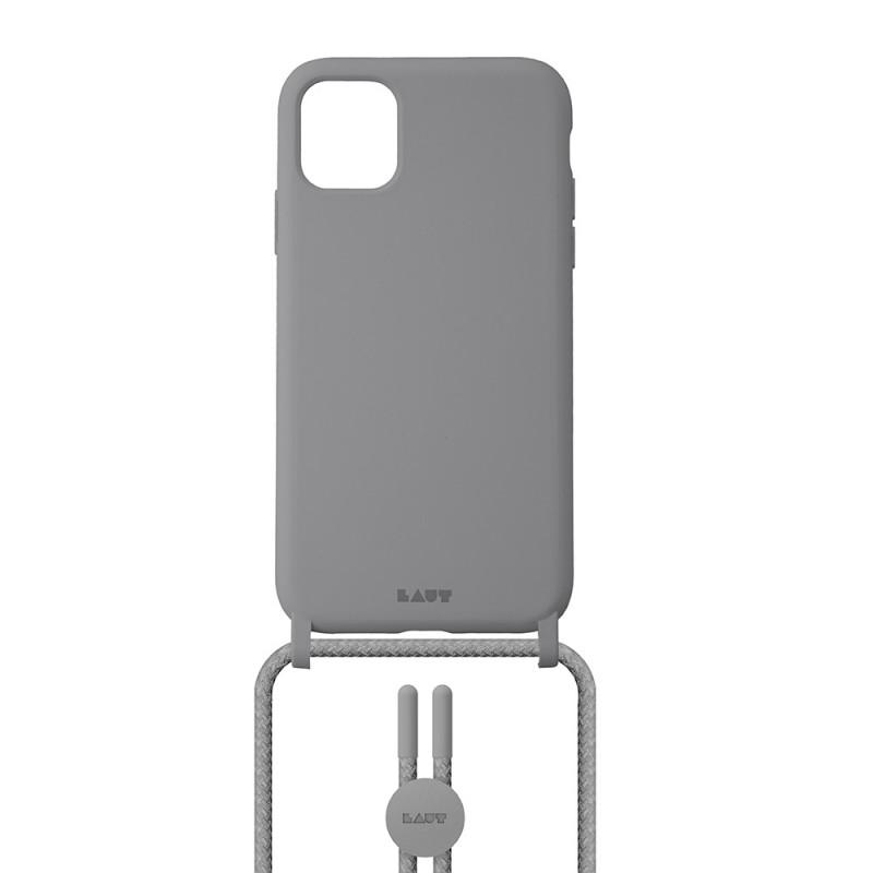 LAUT Pastels Necklace iPhone 12 Mini Grijs - 2