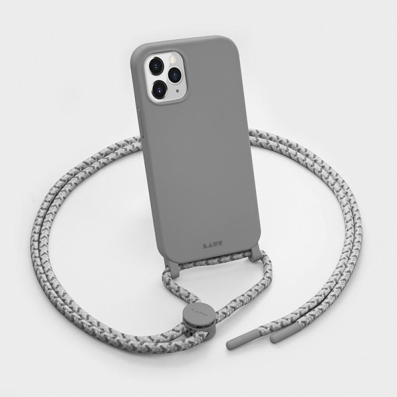 LAUT Pastels Necklace iPhone 12 Mini Grijs - 3