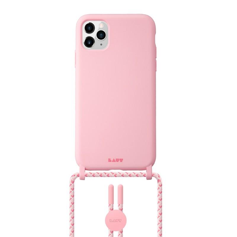 LAUT Pastels Necklace iPhone 12 Mini Roze - 1