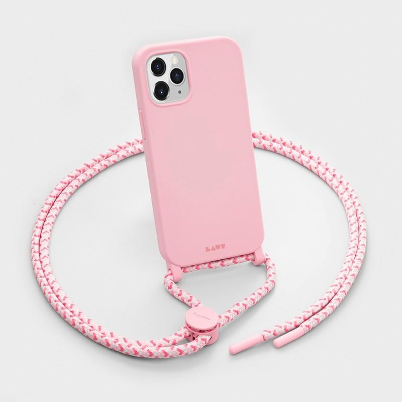 LAUT Pastels Necklace iPhone 12 Mini Roze - 3