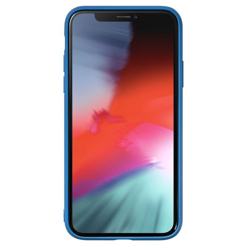 LAUT Mineral Glass Case iPhone XR Blauw 02