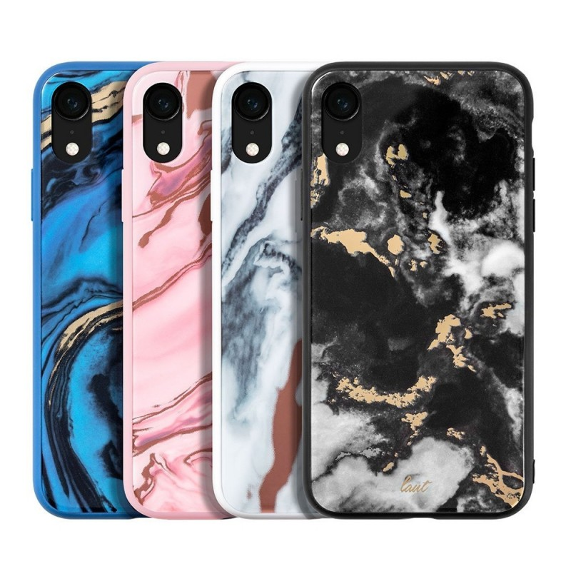 LAUT Mineral Glass Case iPhone XR Blauw 04