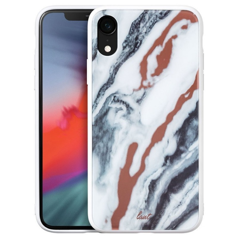 LAUT Mineral Glass Case iPhone XR Wit 01