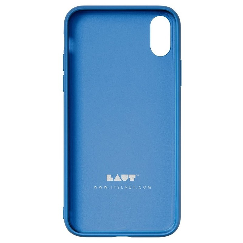 LAUT Mineral Glass iPhone XS Max Case Blauw 05