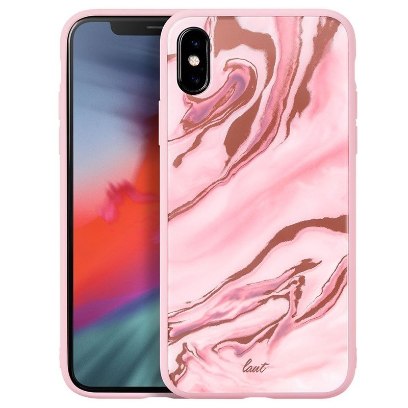 LAUT Mineral Glass iPhone XS Max Case Roze 01