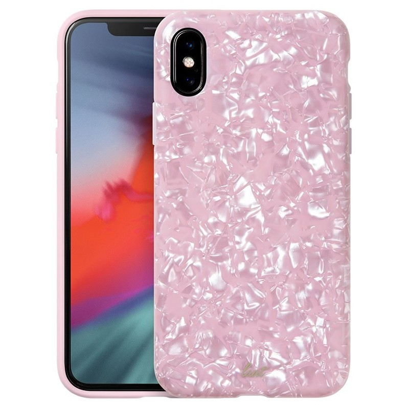 LAUT Pearl Case iPhone XS Max Hoesje Pink Rose 01