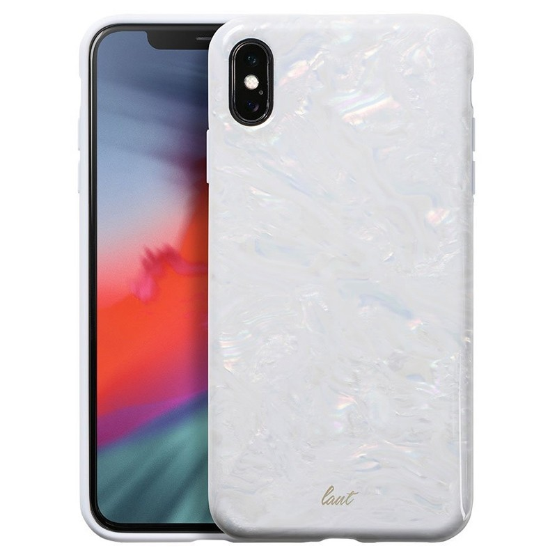 LAUT Pearl Case iPhone XS Max Hoesje Artic Pearl 01
