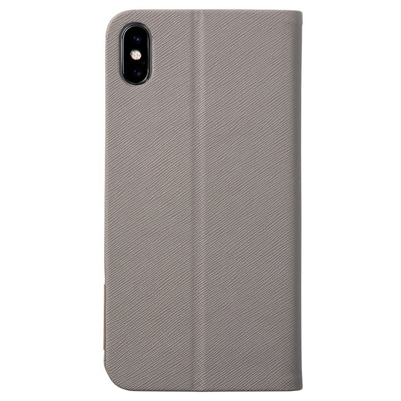 LAUT Prestige Folio iPhone XS Max Wallet Taupe 02