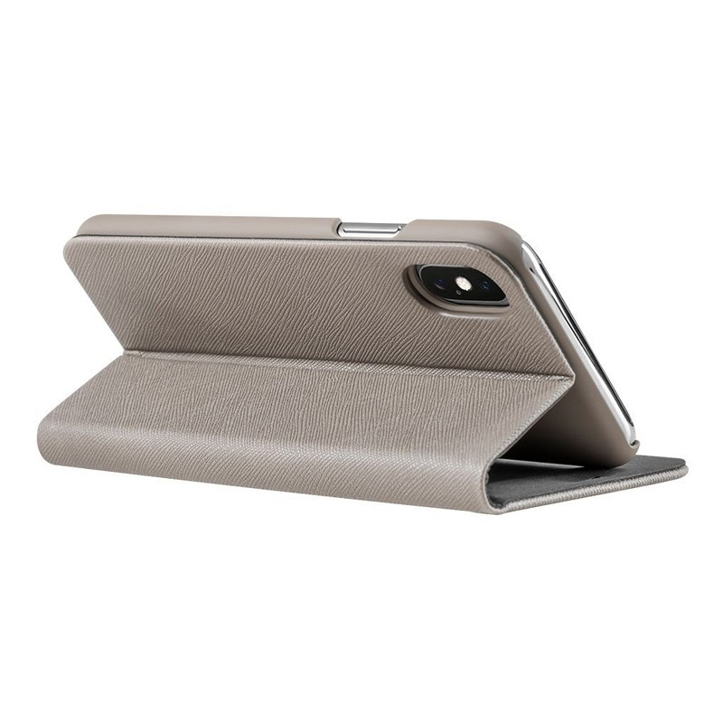 LAUT Prestige Folio iPhone XS Max Wallet Taupe 07