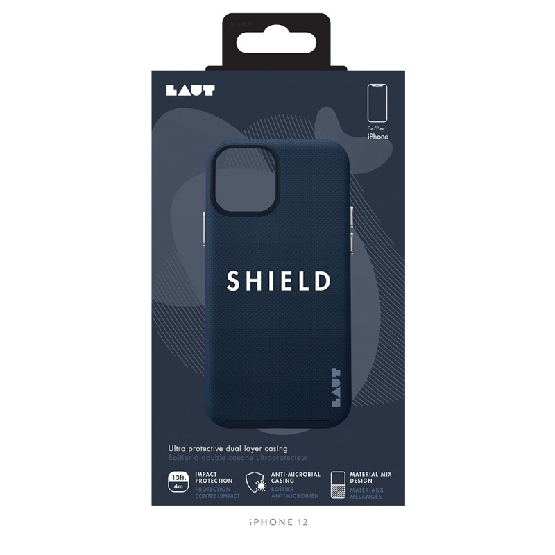 LAUT Shield iPhone 12 / iPhone 12 Pro 6.1 Indigo Blauw - 2