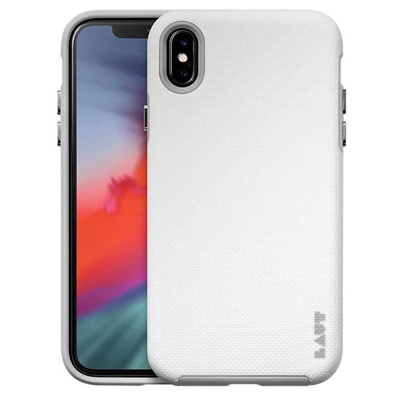 LAUT Shield iPhone XS Max Case Wit Grijs 01