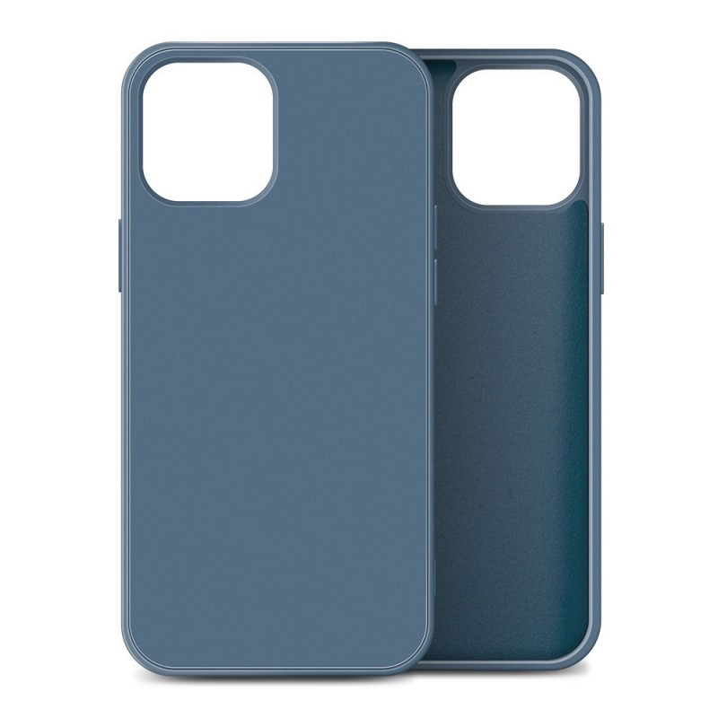 Mobiq Liquid Silicone Case iPhone 12 Mini Blauw - 1