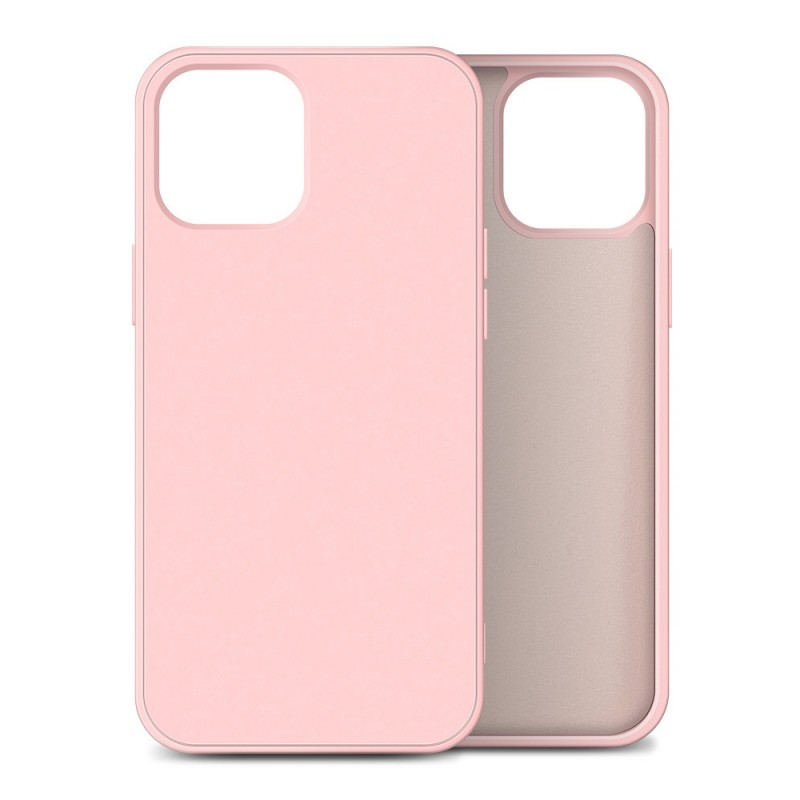 Mobiq Liquid Silicone Case iPhone 12 Mini Roze - 1