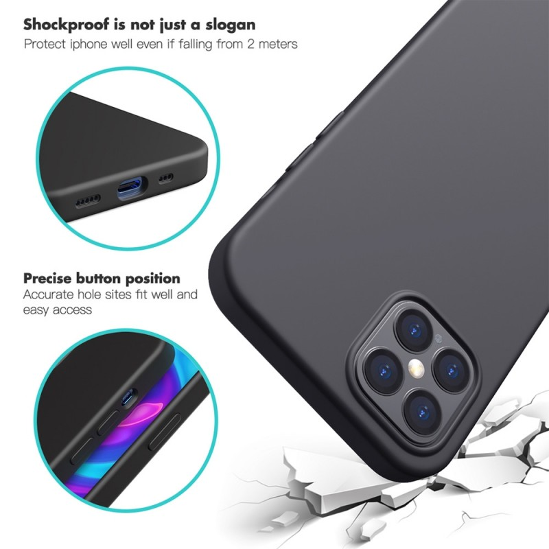 Mobiq Liquid Silicone Case iPhone 12 Mini Paars - 5