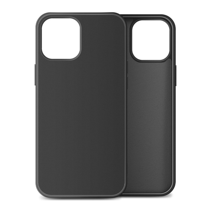 Mobiq Liquid Silicone Case iPhone 12 Mini Zwart - 1