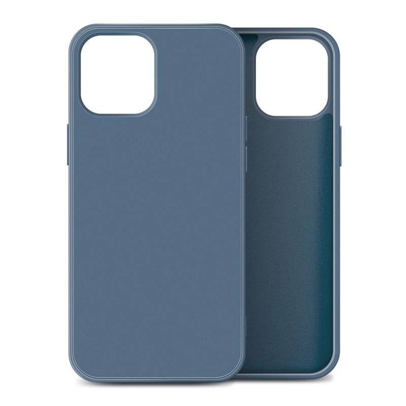 Mobiq Liquid Silicone Case iPhone 12 / 12 Pro Blauw - 1