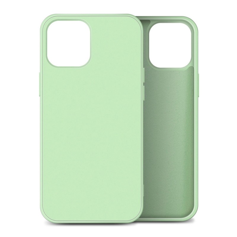 Mobiq Liquid Silicone Case iPhone 12 / 12 Pro Groen - 1