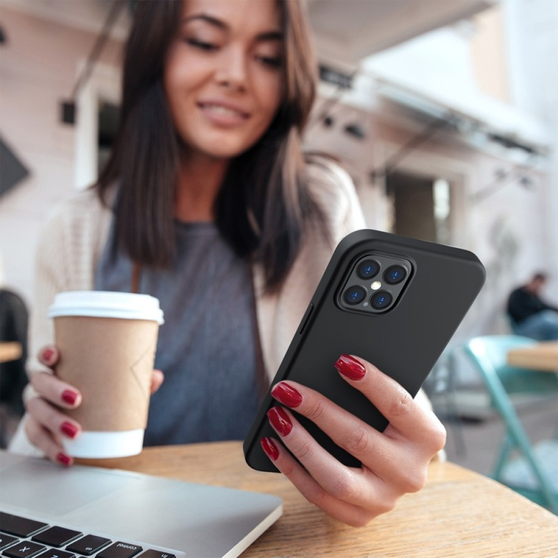Mobiq Liquid Silicone Case iPhone 12 Pro Max Paars - 4