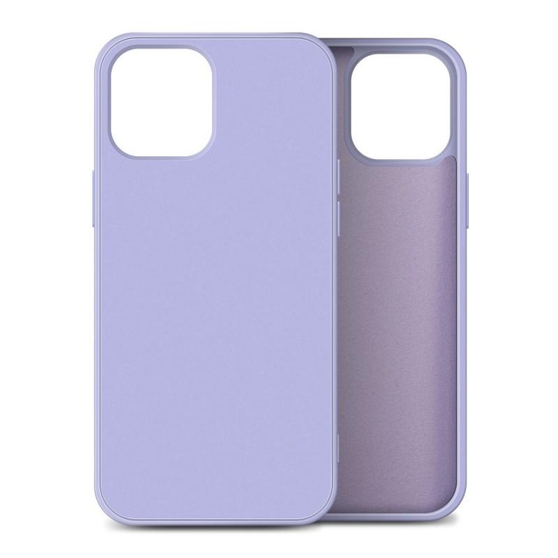 Mobiq Liquid Silicone Case iPhone 12 / 12 Pro Paars - 1