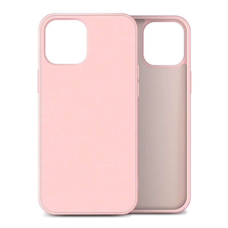 Mobiq Liquid Silicone Case iPhone 12 / 12 Pro Roze - 1