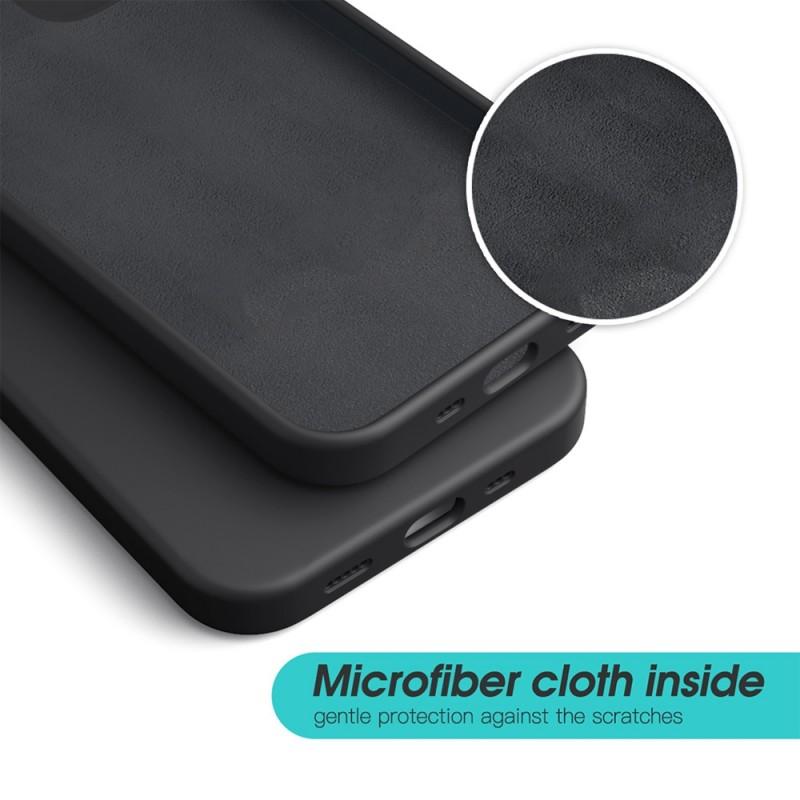 Mobiq Liquid Silicone Case iPhone 12 / 12 Pro Zwart - 2