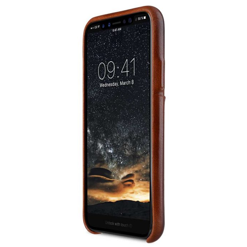 Melkco Elite series Snap Back Pocket iPhone X Xs bruin 03