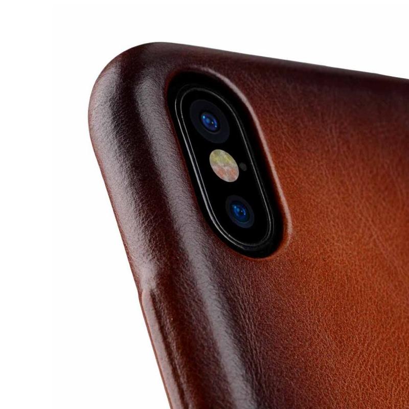 Melkco Elite series Snap Back Pocket iPhone X Xs bruin 06