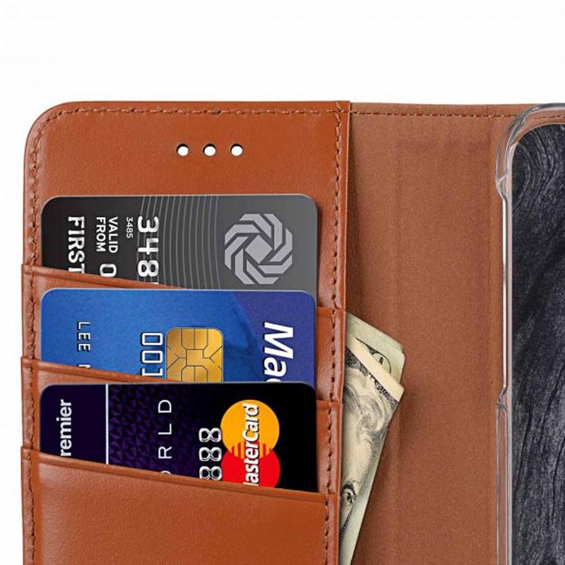 Melkco - Premium Leather Case voor iPhone X / XS Bruin 05