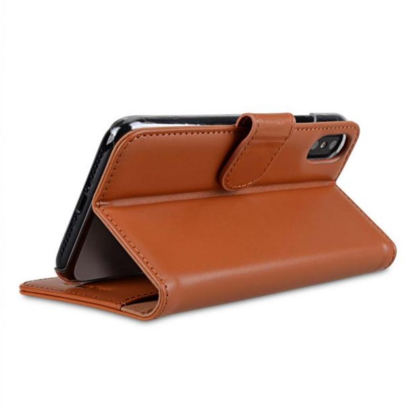 Melkco - Premium Leather Case voor iPhone X / XS Bruin 04