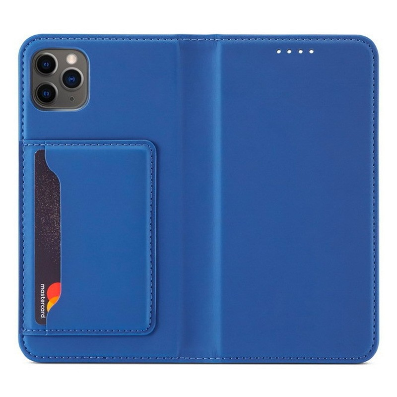Mobiq Magnetic Fashion Wallet Case iPhone 12 Mini Blauw - 1