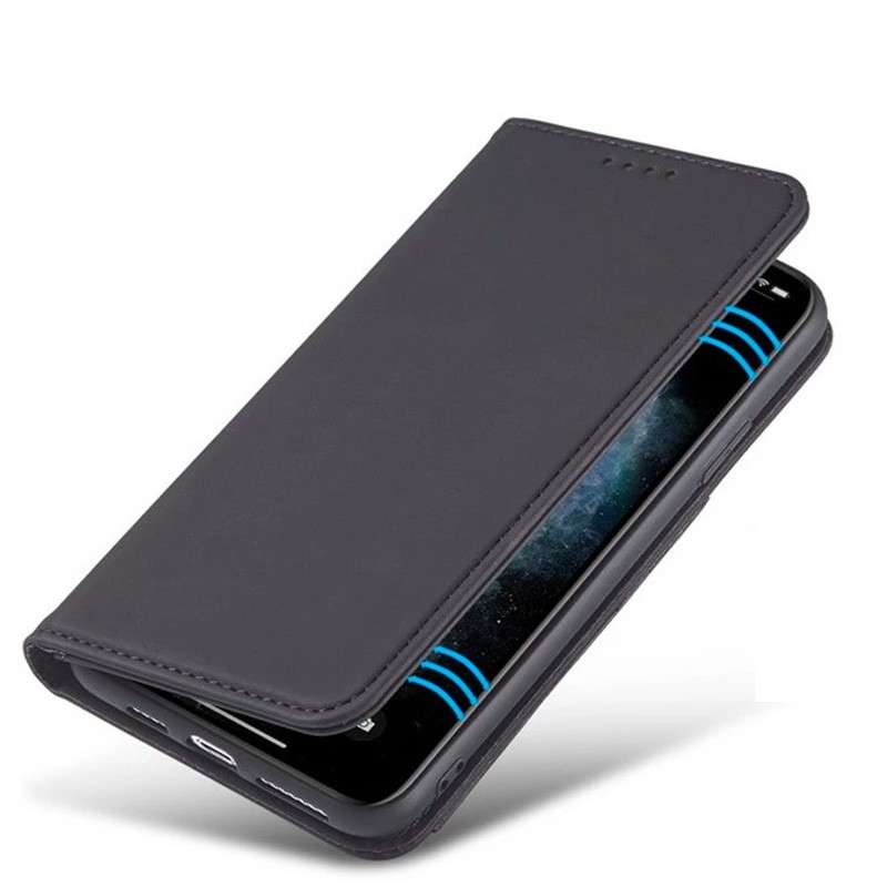 Mobiq Magnetic Fashion Wallet Case iPhone 12 Mini Blauw - 2