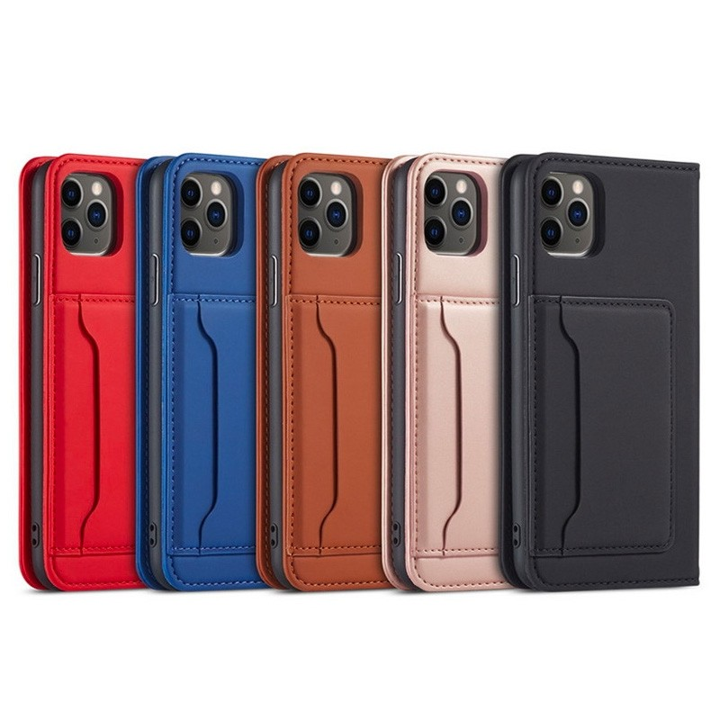 Mobiq Magnetic Fashion Wallet Case iPhone 12 Mini Rood - 5