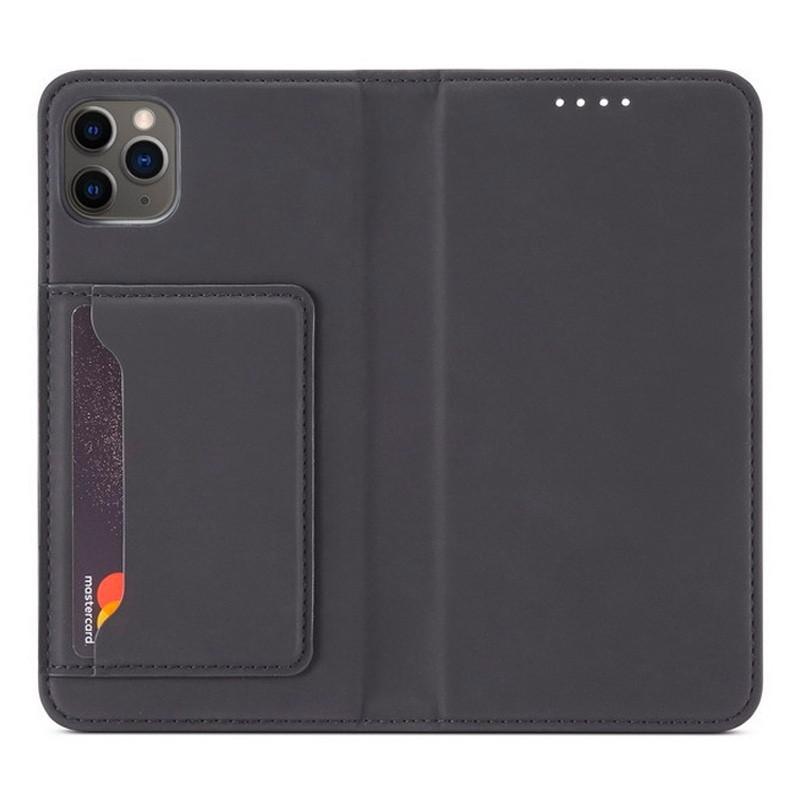 Mobiq Magnetic Fashion Wallet Case iPhone 12 Mini Zwart - 1