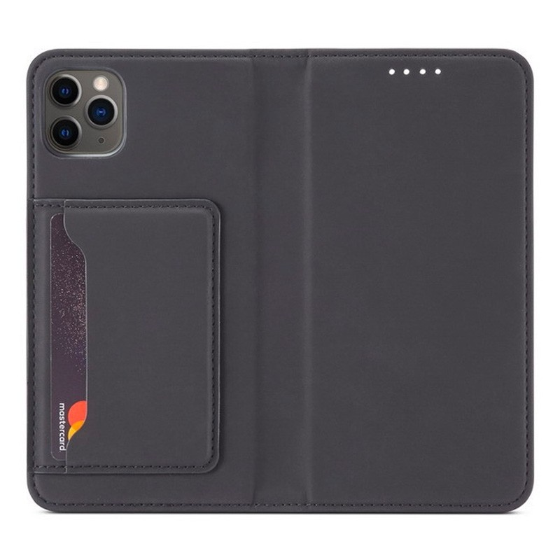 Mobiq Magnetic Fashion Wallet Case iPhone 12 Pro Max Zwart - 1