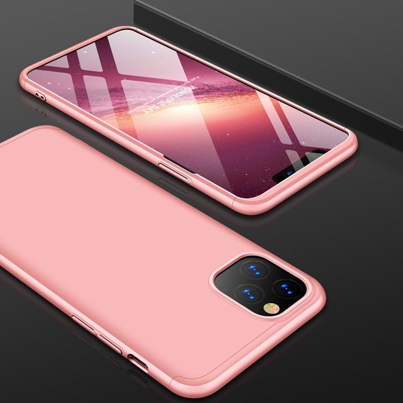 Mobiq 360 Graden Hoesje iPhone 11 Pro Max Roze - 1