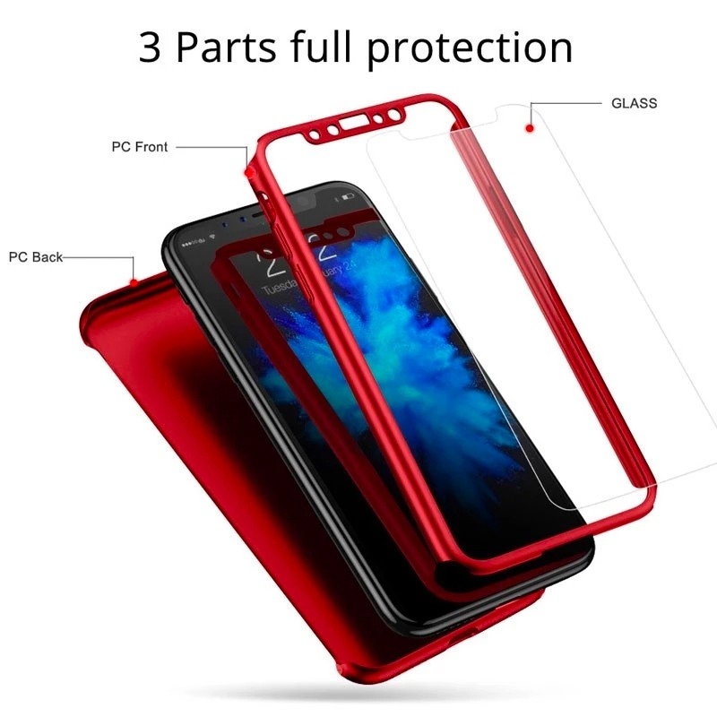 Mobiq 360 Graden Hoesje iPhone 11 Pro Max Rood - 6