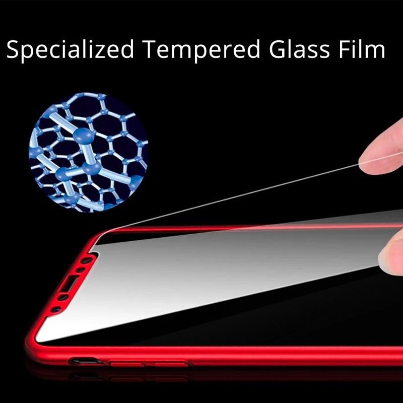 Mobiq 360 Graden Hoesje iPhone 12 Mini Rood - 4