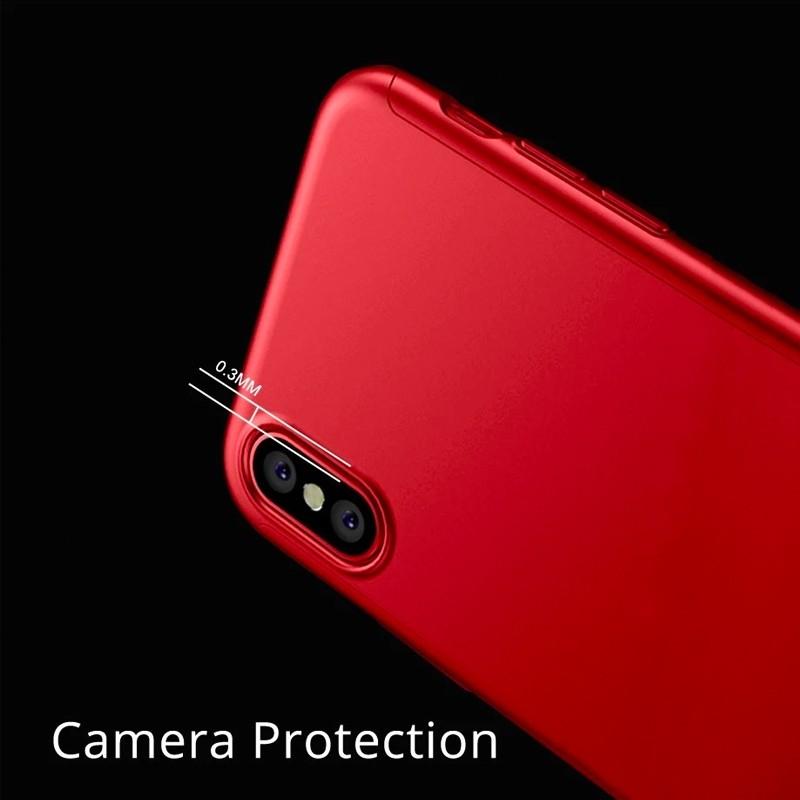 Mobiq 360 Graden Hoesje iPhone 12 Mini Rood - 7